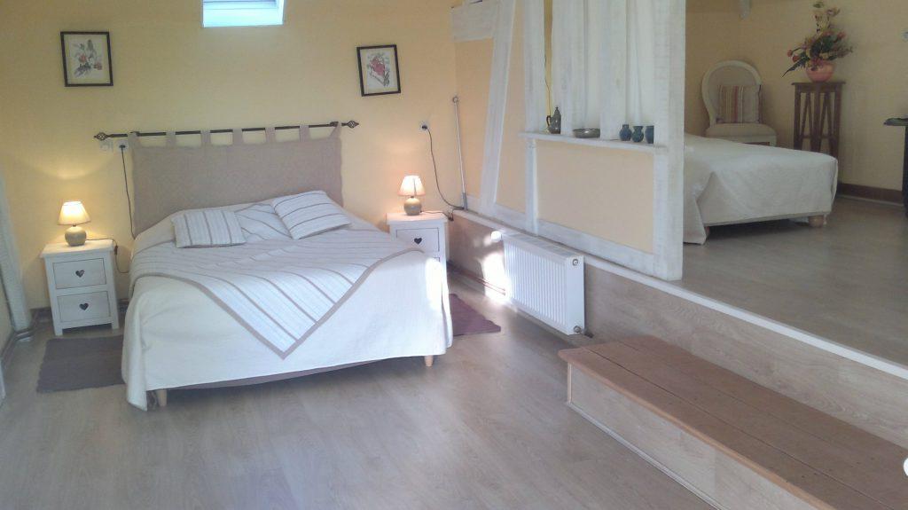 chambre familiale cabourg, 1 lit 140, 1 lit 90, 1 bz